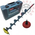 Дрель-шуруповерт Makita DDF458RFE с буром Rapala для сверления льда - электроледобур