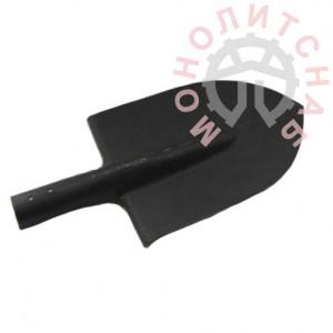 Лопата штыковая рельсовая сталь с ребром жесткости без черенка